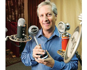 Loud and Clear: John Maier, CEO of Blue Microphones, with company products.