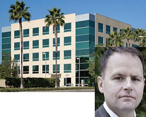 2300 Main: Hines Global REIT paid $38.2 million for fully leased, five-story office.  Inset - Lawler: developers will seek build-to-suit tenants.
