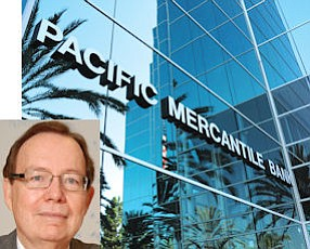 Carpenter (inset): controlling interest in Pac Merc, four other banks in state.  Costa Mesa HQ: half of 14 directors appointed in past year