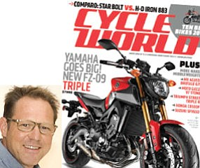 """Leisner on niches (inset): """"a motorcycle is not just a motorcycle.""""  Cycle World: from lone title to biggest of nine in newly formed group."""