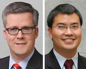 Mathias Schulze Steinen, partner, K&L Gates LLP (left);  Evan Ng, partner, Dorsey & Whitney LLP