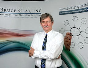 Global Perspective: Bruce Clay, president of Bruce Clay Inc., at his offices in Simi Valley.