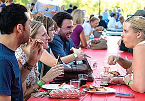 Sudsy: Patrons enjoy the Aug. 29 Kiwanis Beer Fest at Conejo Creek North Park.