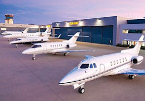 Sunny Promotions: Sun Air Jets facility at Camarillo Airport.