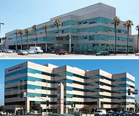 Lease: Studio City took 19,000 square feet at 5161 Lankershim Blvd. (above);  Sale: Kennedy Wilson unloaded 16501 Ventura Blvd. for $61 milllion.