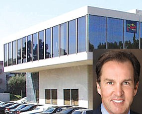 "1617 Westcliff: 34,500 square feet near Costa Mesa boundary.  Scott Burnham (inset): property's owner plans to invest ""millions"" in center"