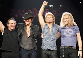 Bon Jovi: performs at the Honda Center in Anaheim on Oct. 9