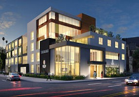 Rendering: Ikon Hospitality Group is planning a 43-room hotel on Tujunga Avenue in the arts district.