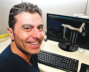 Vertical Challenges: Dr. Alireza Khosroabadi at his offices in San Fernando.