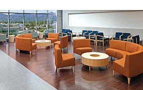 Valley View: Plush waiting area at Kaiser's NoHo treatment center.