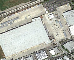 Distribution center: at southeastern edge of Great Park land