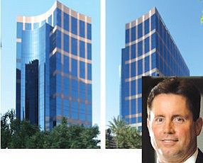 2030 Main: New York-based investor acquired property for new fund focused on high-quality buildings. 2040 Main: owned by OC's largest law firm, which takes up more than 40% of the building.  Inset: CBRE's Shannon: institutional investors expect JWA area rent increases.