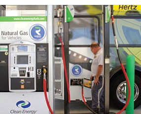 Pumping: one of the hundreds of Clean Energy fueling stations
