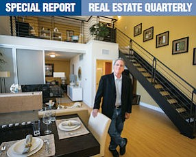 Wow Factor: Developer Greg Brody in a loft at his Metro Art Sherman Oaks, a pricey 113-unit apartment complex that features retail frontage along Ventura Boulevard.