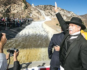 Sylmar: The 1913 opening of the L.A. aqueduct was re-enacted Nov. 5.