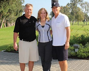 Autumn Golf Classic chairman Scott Pievac, chief executive of SPC Retail Display Group; United Cerebral Palsy of Orange County Chief Executive Cathleen Collins; founding sponsor Dana Dowers, owner of DLD Insurance Brokers Inc.