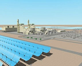 Hybrid: Rendering of planned Palmdale facility, which might have solar component.