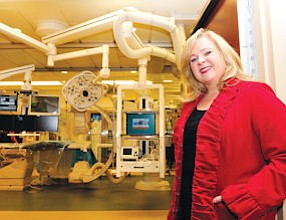 High Tech: Kim Milstein, chief exeutive of Simi Valley Hospital, at the new cardiac catheter lab.