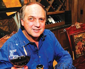 Uncorked: David Hunt, of Hunt Cellars, with glass of wine at Chatsworth home.