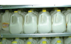 Milk jug: ads on gallons are specialty of BoxTop