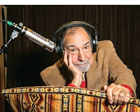 Getting Comfortable: Dick Orkin strikes a pose in one of the recording studios at the Famous Radio Ranch in Sherman Oaks.