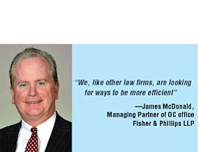 James McDonald, Managing Partner of OC office Fisher & Phillips LLP