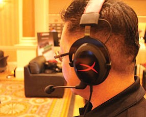 Leong: head of company's communications modeled Hyper-X brand at CES in Las Vegas