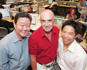 Beginnings: Founders Brian Lee, Robert Shapiro and Brian Lieu in 2008 file photo.