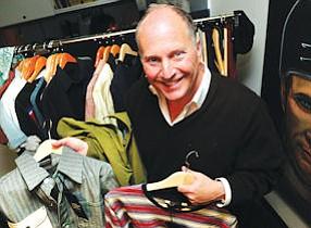 Shopping Spree: Cherokee CEO Henry Stupp displays Tony Hawk tops at Sherman Oaks offices.