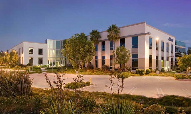 Concourse One office building at 3207 Grey Hawk Court in Carlsbad.