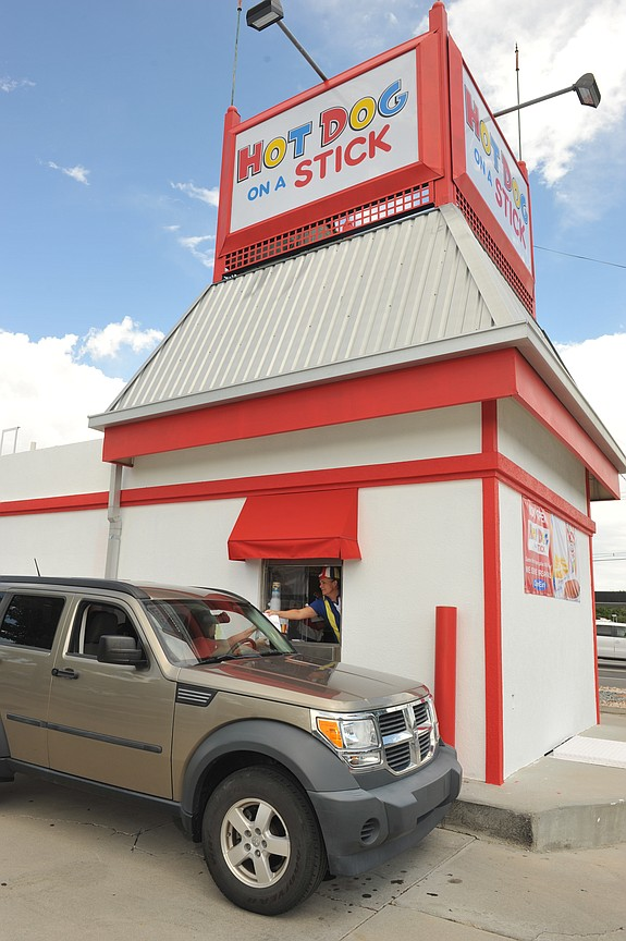 In 2012, Carlsbad-based HDOS Enterprises opened its first-ever drive-through location of Hot Dog on a Stick in Utah.-- File photo courtesy of HDOS Enterprises