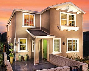 NoHo Living: Model home at Vineland Metro in North Hollywood.