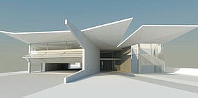 Taking Flight: Rendering of planned education building at Guide Dogs of America in Sylmar.