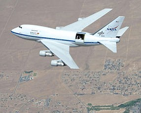 Cleared for Landing?: The SOFIA observatory aboard modified 747 jumbo jet.