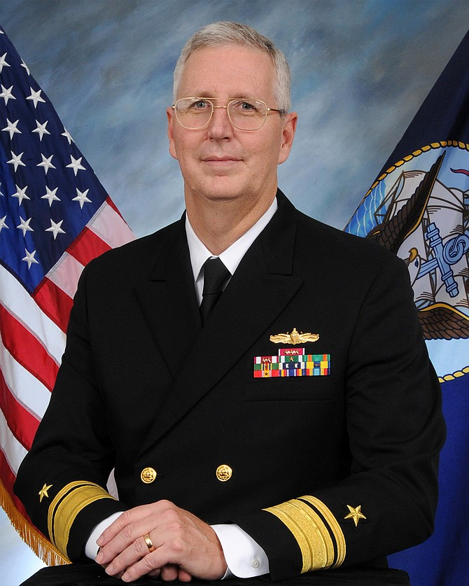 Rear Adm. David H. Lewis -- Photo courtesy of the U.S. Navy