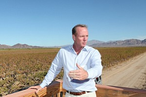 Heating Up: Cadiz Chief Executive Scott Slater on the company's aquifer property in Cadiz Valley.