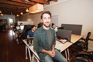 New Direction: Co-founder Sam Teller at Launchpad LA's office in Santa Monica.