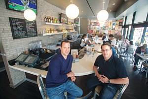 Full Plate: Co-Chief Executives Jeff Weinstein and Craig Albert at the West Hollywood Counter in an October photo.