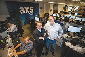 In Line: Bryan Perez, left, and Tom Andrus at AXS in downtown Los Angeles.