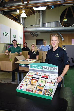 Packed In: Sean Kelly with SnackNation box.