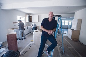 Stepping Up: Bruce Bartlett, Sequoia managing partner, at a home project in Studio City.