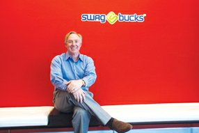 Catching Ride: Chuck Davis, chief executive of Swagbucks, at the Web surfing company's headquarters in El Segundo.