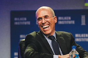 All the Way to the Bank: Jeffrey Katzenberg at a recent Milken Institute conference.