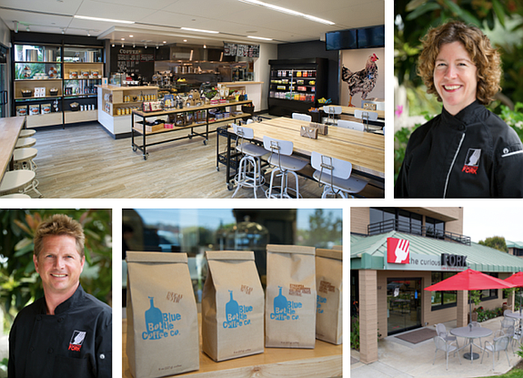 Barbara McQuiston (top right) and Kai Peyrefitte are founders of The Curious Fork in Solana Beach. --- Photos courtesy of The Curious Fork