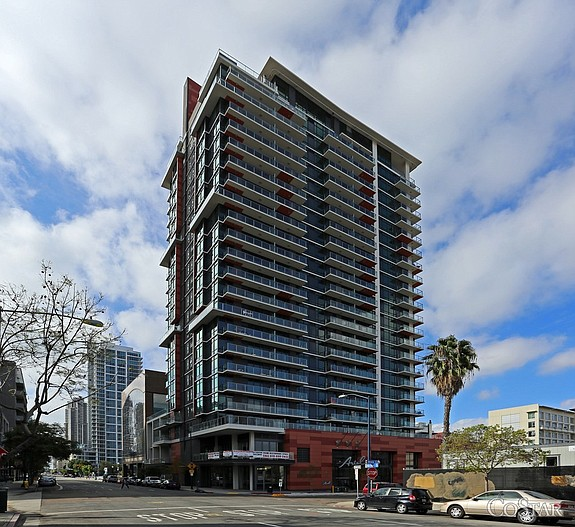 The Ariel Suites apartment tower in Little Italy – Photo courtesy of CoStar Group