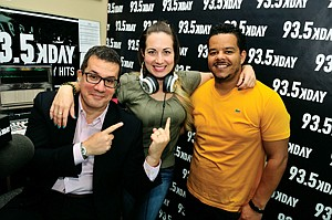 Dialed In: Otto Padron, left, Brandi Garcia and Adrian 'A.D.' Scott at KDAY in Hancock Park.