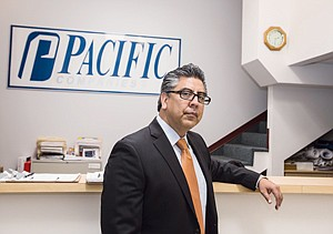 Feeling Exposed: Joe Ramirez at Pacific National Security's office in Culver City.