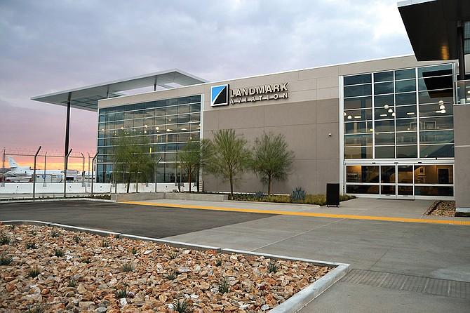 Landmark Aviation's new fixed-base operator terminal at San Diego International Airport (Photo courtesy of Landmark Aviation)