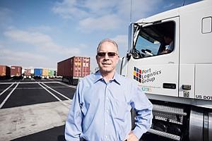 Driven: Port Logistics Group's Mike Johnson.