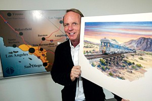 On Line: Chief Executive Scott Slater at Cadiz's L.A. office in October.